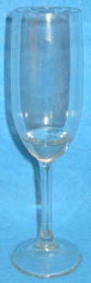 Case of 10  Breakaway glass Champagne flute