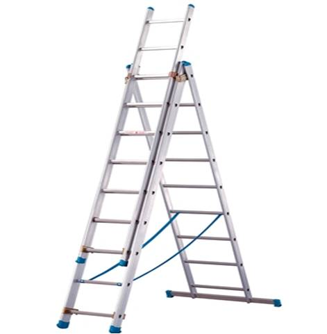 The Little Giant Velocity® is constructed of a special alloy that makes it 20 percent lighter than any comparable industrial-rated ladder. The Velocity also includes several innovative new features such as the dual-pin hinge and the easy-to-use Rock Locks™ for quick adjustment.