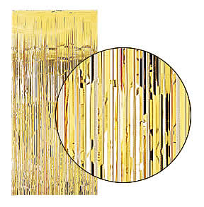 Gold Slash (Foil) Shimmer Curtains for Theatre / Stage / Party