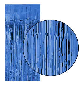 Royal Blue Slash (Foil) Shimmer Curtains for Theatre / Stage / Party